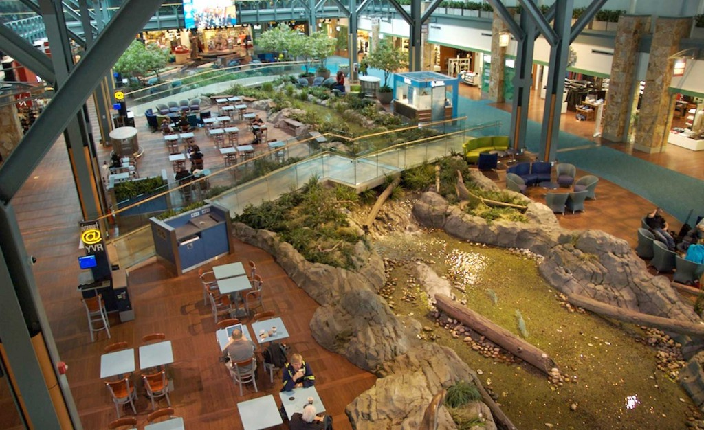 aerial view vancouver-aiport-nature garden display
