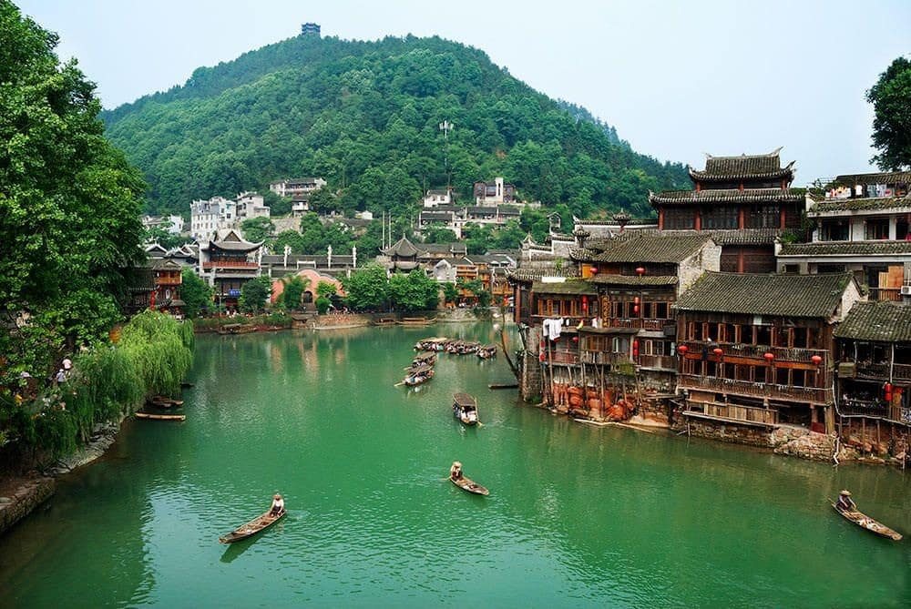 "Fenghuang (""Phoenix"") Ancient City in Hunan Province."