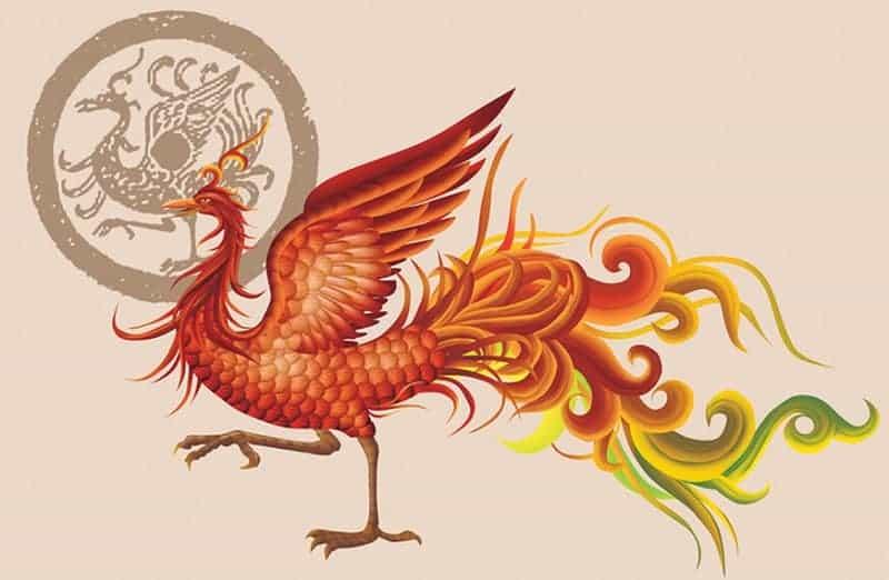 Rooster King Drawing Art Feng Shui wsm.com-min (Demo)