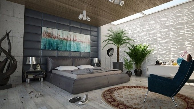 bedroom-gray-wavy-wall-feng-shui-min (Demo)